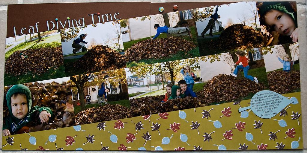 leaf diving