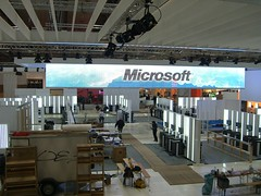 Microsoft booth at CeBIT10