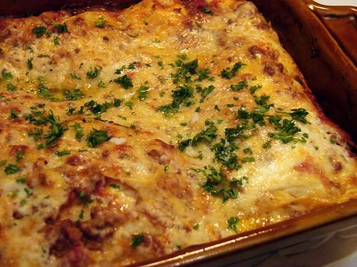 lasagna with lamb ragu