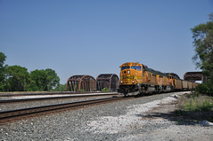 BNSF Coal Train in Blue Island, Illinois