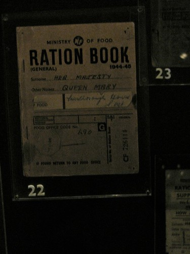 Her Majesty, Queen Mary's ration book