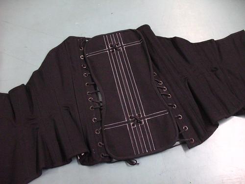 striped corset - modesty panel