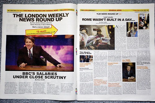 image of London Weekly spread