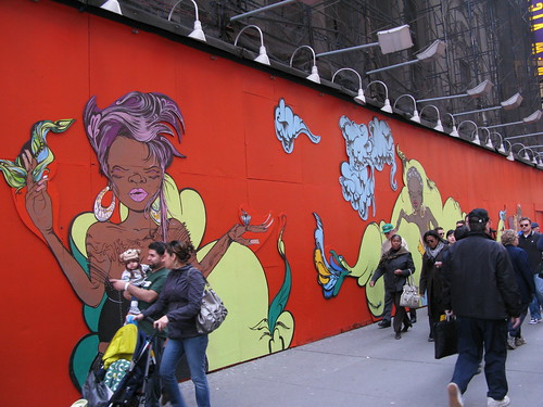 Mural on 8th Ave, Times Square