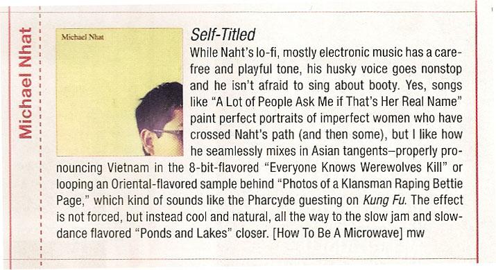 GIANT ROBOT reviews MICHAEL NHAT