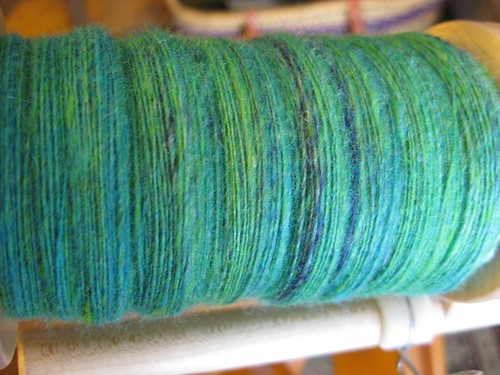 Lace spinning singles