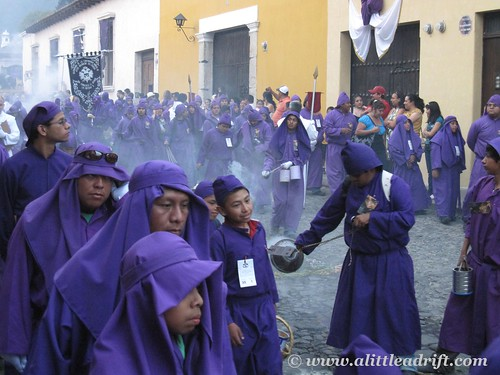 Sage Incense Permeating the Procession
