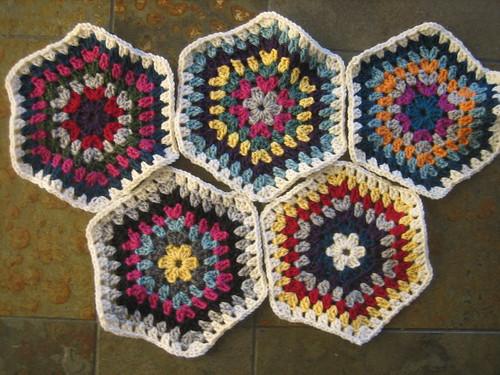 First 5 hexagons