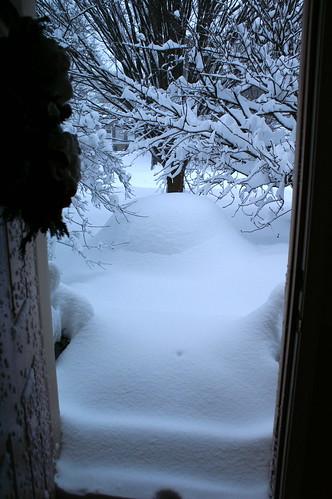SNOWMAGGEDON 2010:Front door view2