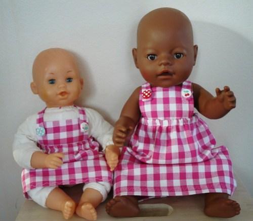 Dukke (doll) Lise and dukke Laura wearing new dresses
