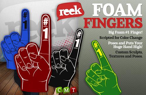 Reek - Foam Fingers