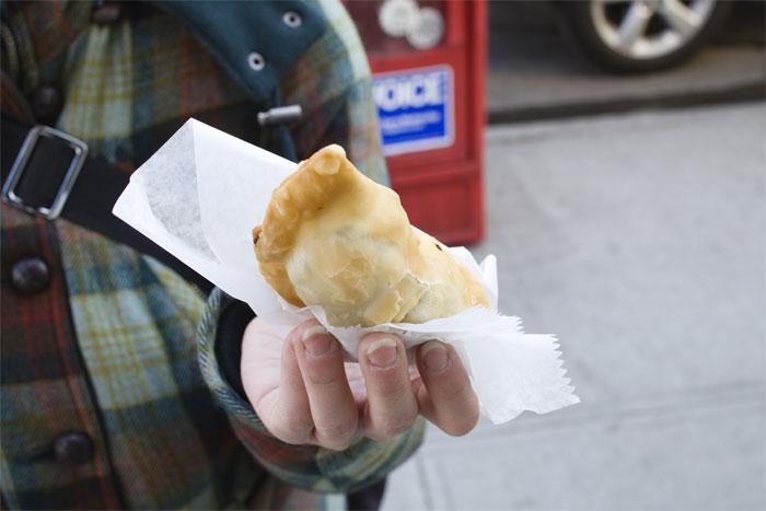 Empanada from laundromat