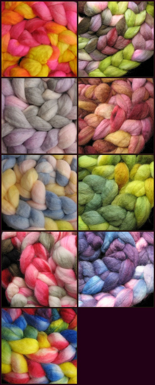 Hand Dyed BFL Wool Top Update