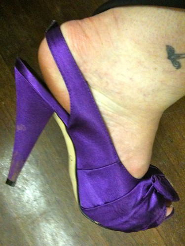 The dangerous purple shoe