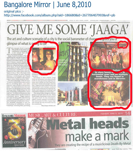 Bangalore Mirror | June 8th, 2010.