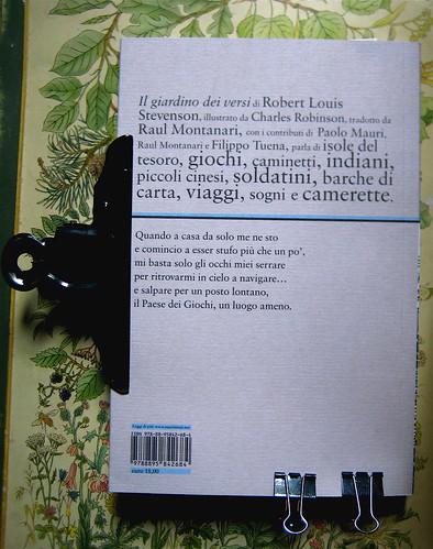 Robert Louis Stevenson, Il giardino dei versi, illustrato da Charles Robinson; art director: Ada Carpi, Nutrimenti 2010; q. di cop. (part.), 1