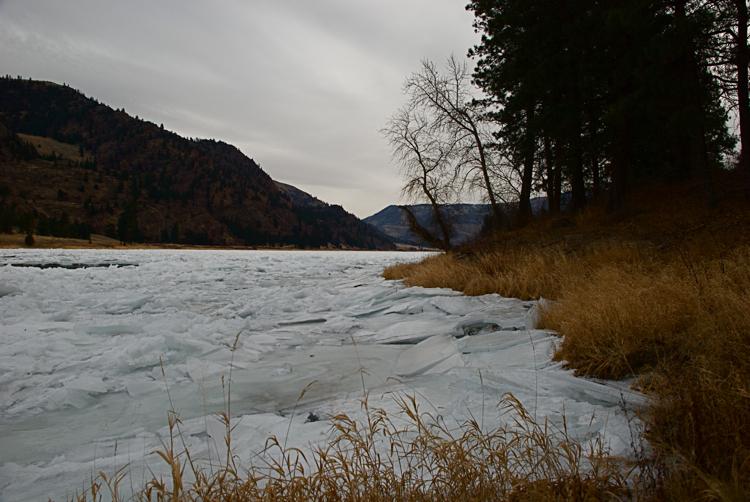 Flathead River ice