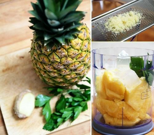 Ananas, gingembre & persil