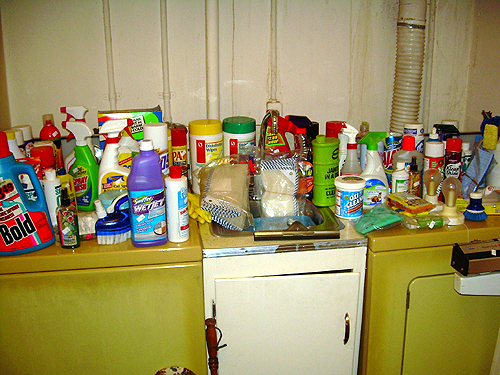 Acres of cleaning products