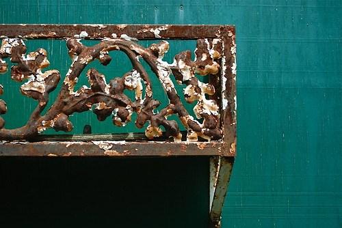 rusty planter box
