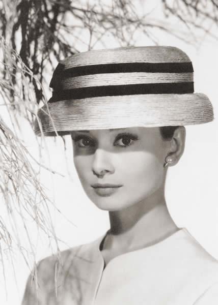 adrey hepburn in hat