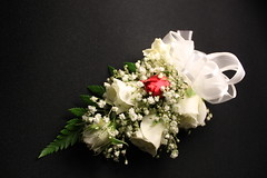 Simple yet elegant prom corsage