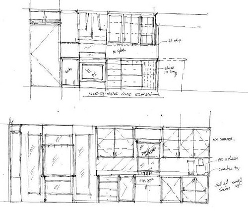 galley kitchen elevation