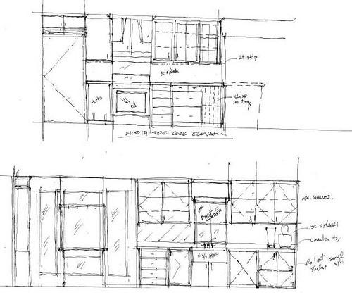 galley kitchen elevation
