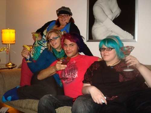 Crystal, me, Warr and Veronica