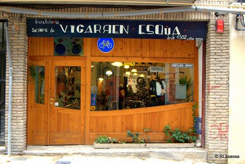Tienda de bicicletas en la calle del Carmen de Pamplona