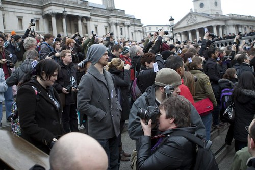 I'm a photographer, not a terrorist - mass photo gathering in Trafalgar Square