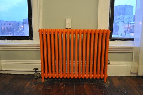 pumkin orange radiator