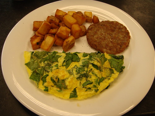Blitman - Spinach Omelette, Sausage and Potatoes