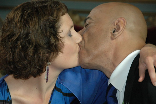 en ja hoor: de eerste kus!