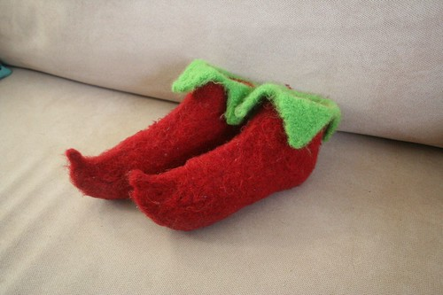 for Rav: red elf slippers