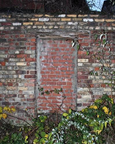 IMG_6162 Blocked-up doorway in brick wall, Ouseburn. Janet E Davis.