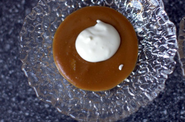caramel pudding, thought bubble