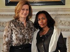 Sarah Brown with the First Lady of Ethiopia