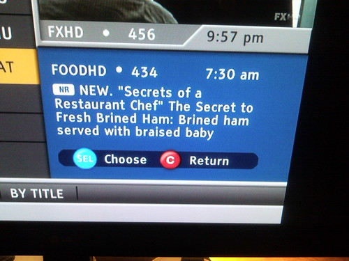 Questionable food network programing.