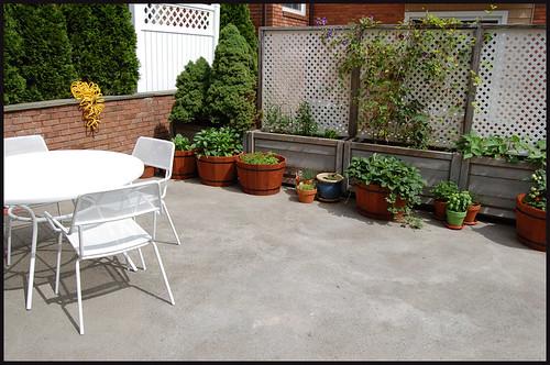 view of left side of garden