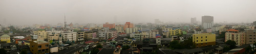 Bangkok Rainy Afternoon from the Apartment