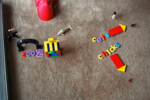 my son made this zoo this morning