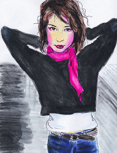 Girl with Pink Scarf
