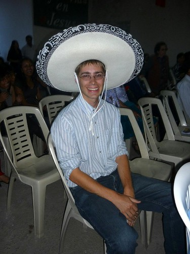 Hans with a Mariachi Hat
