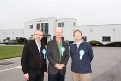 Stephen Oliver, David Willetts & Nick Hillman at Marshalls