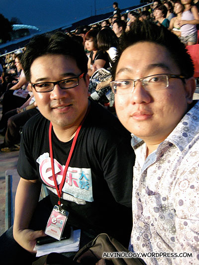 Me with my other colleague, Adrian