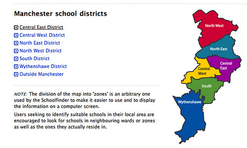 Manchester schools maps