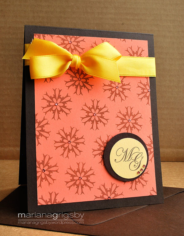 Monogram Stationery Card 1