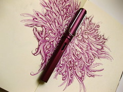 Purple Lamy & Moleskine Sketchbook by Gentian