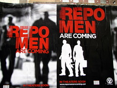 Repo Men Billboards with Red Laser Barcode
